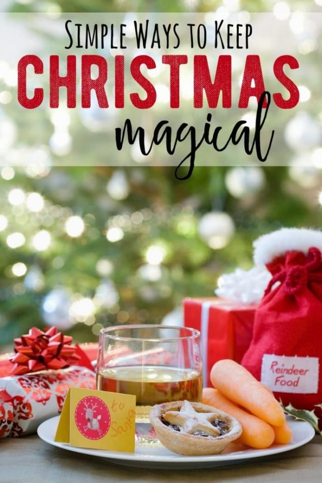 6 simple ways to keep Christmas magical for the whole family! Keep up those special holiday traditions and Christmas Wish Lists to keep the magic alive!