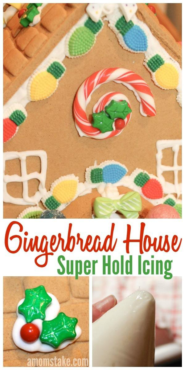 Designing your own gingerbread house is so much fun with this easy to make super hold icing that works like a charm! One of my favorite Christmas holiday traditions both the kids and adults can enjoy!
