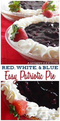 Easy Red White & Blue Patriotic Pie