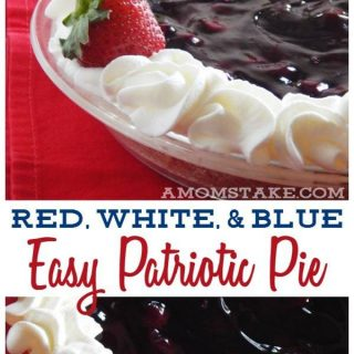 Easy Red White & Blue Patriotic Pie