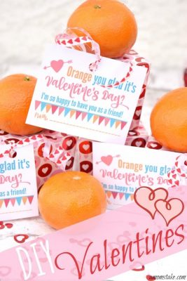 Orange You Glad it's Valentine's Day Printable