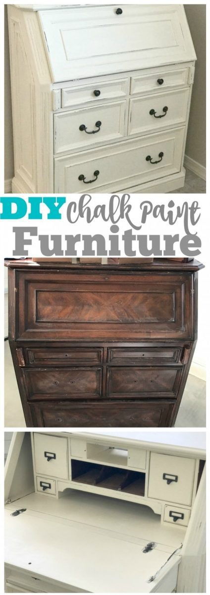 How To Refinish An Old Piece Of Furniture With Chalk Paint! A DIY Tutorial  That