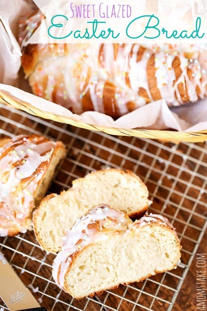 Sweet Glazed Easter Bread