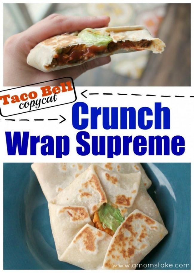 crunch wrap collage