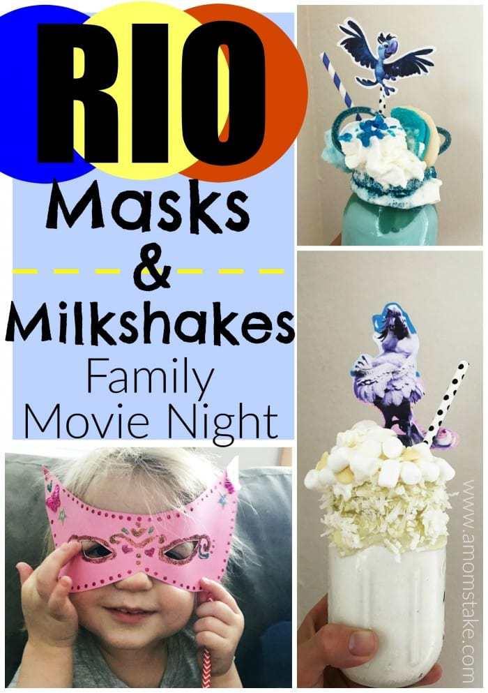 RIO MIlkshakes! These premium milkshake creations are a big hit with the whole family. Perfect family movie night dessert or treat to share. Load up the milkshakes with coconut, marshmallows, sugar cookies, or other goodies.