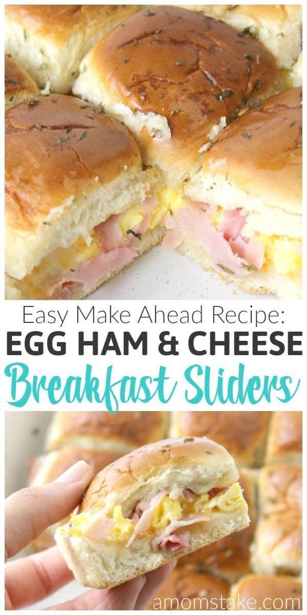 Packing a powerful protein punch in the mornings is important, and these Ham Egg and Cheese Sliders can help do just that! Simple and delicious as well!