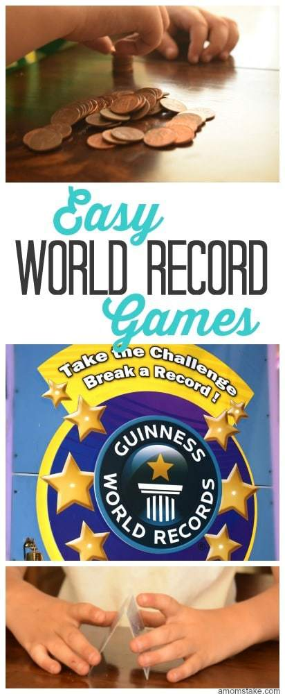 These Easy World Record Challenges games are perfect for a kids party or a boring day at home this summer.