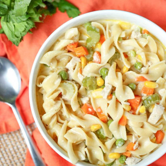 chicken pot pie with noodles