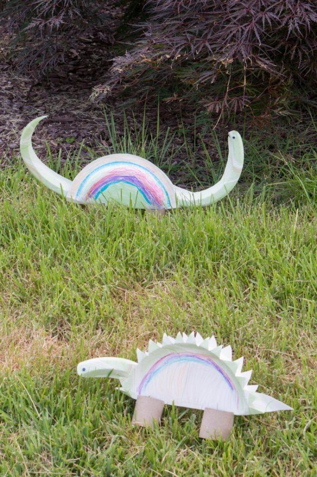 paper plate dionsaur craft