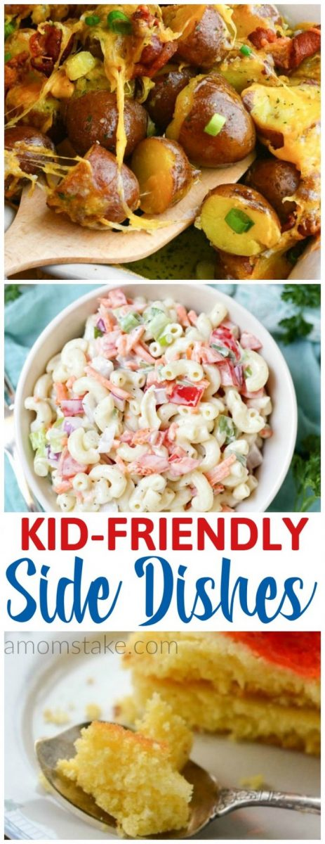Perfect side dishes kids will love - for summer or other times of the year. These 5 sides are easy to make and yummy!