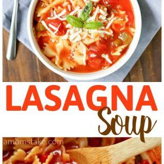 Easy Lasagna Soup One Pot Recipe