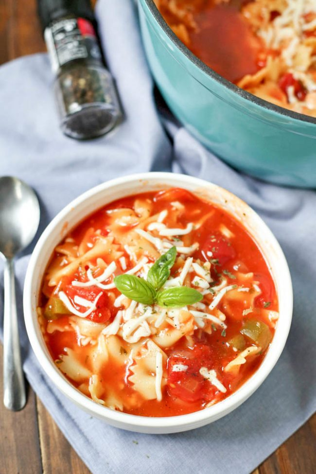 dutch oven lasagna soup