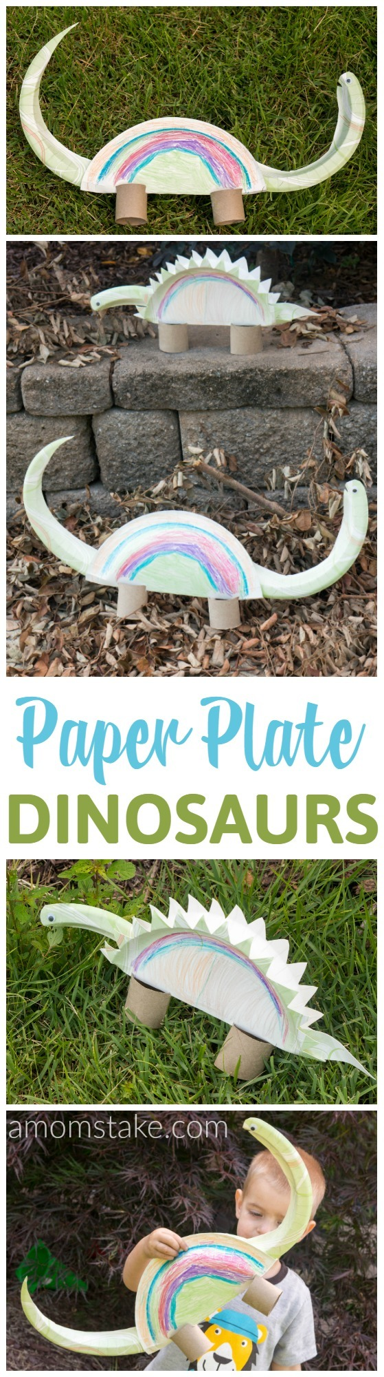 Paper plate crafts are so much fun and cheap! We made paper plate dinosaur : stegosaurus paper plate craft - pezcame.com