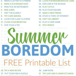 Easy & Cheap Things to do When You're Bored for Kids and Families!