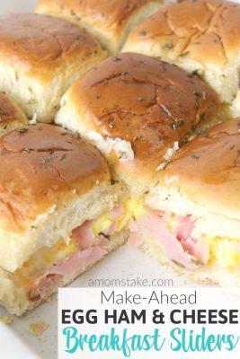 Egg Ham & Cheese Breakfast Sliders