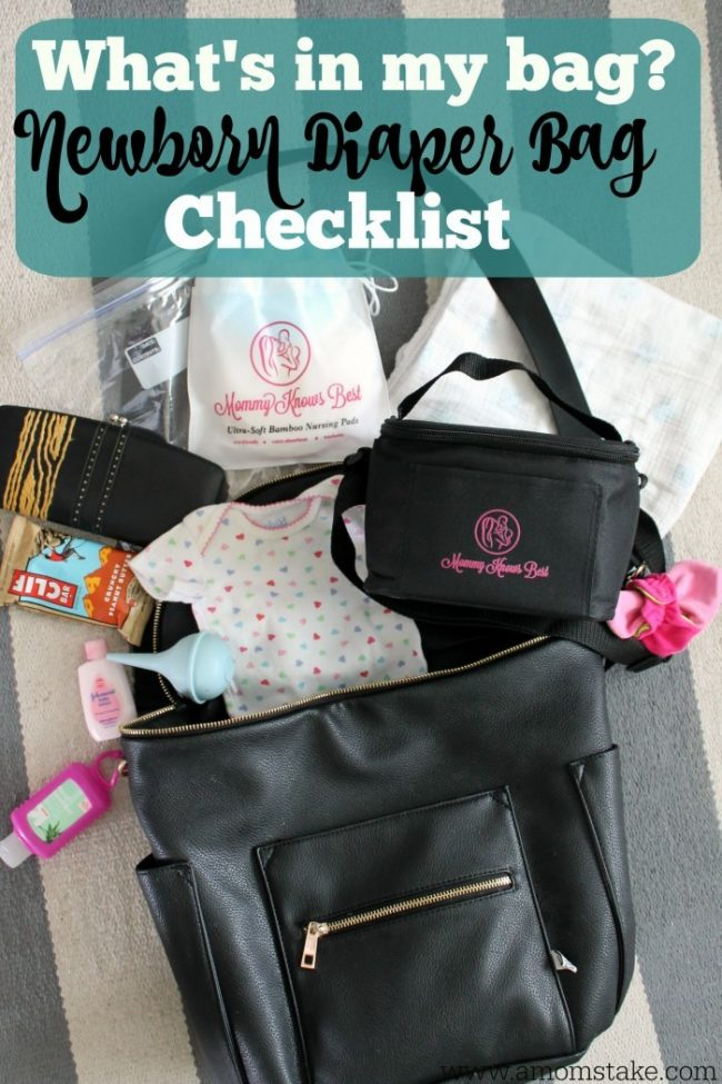 What S In My Bag A Newborn Diaper Checklist Mom Take