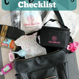What's in my bag? A Newborn Diaper Bag Checklist
