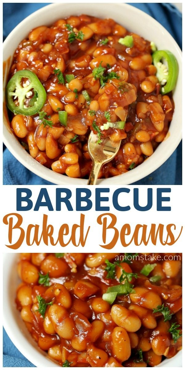 These amazing, fully loaded, baked beans will be the perfect side dishes for your summer gatherings and potlucks! Barbecue baked beans with a kick of spice, if desired. Easy to make including a homemade barbecue sauce recipe.