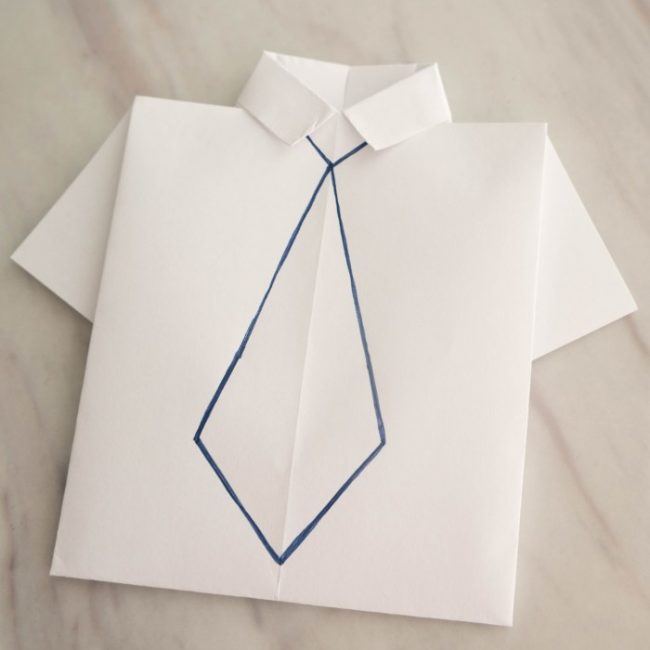 Try this easy origami t-shirt design with step-by-step directions. So cute for a The Boss Baby themed party, as activities for kids, or for a completely customized Father's day card!