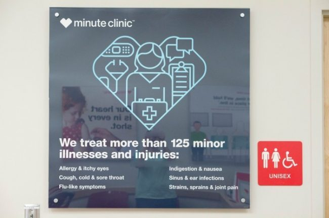 cvs minute clinic prices