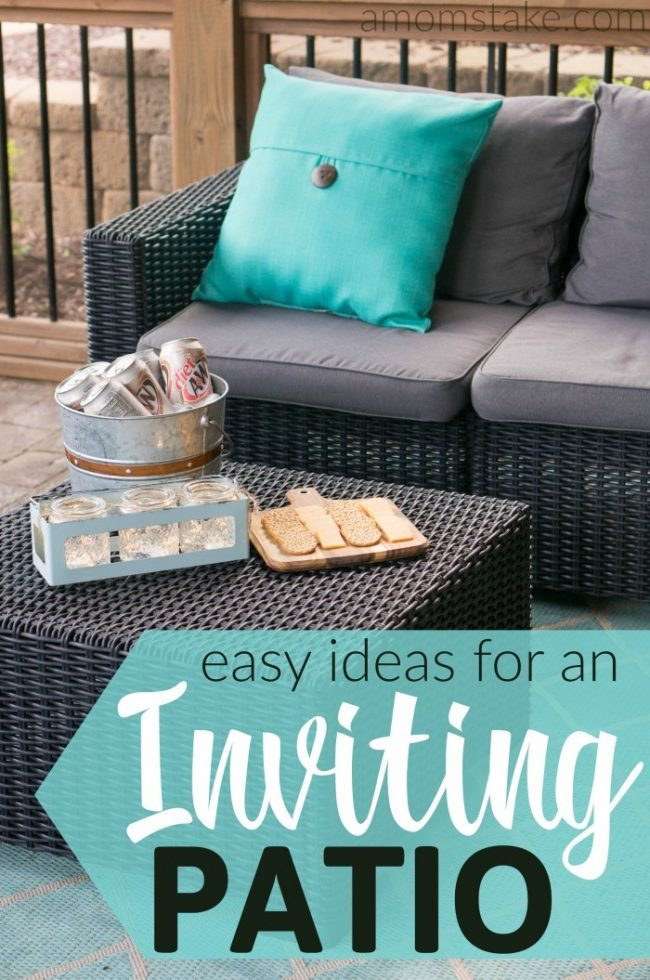 Use these simple tricks and ideas to create a warm and inviting patio space for outdoor living extension of your home where guests want to come to visit!