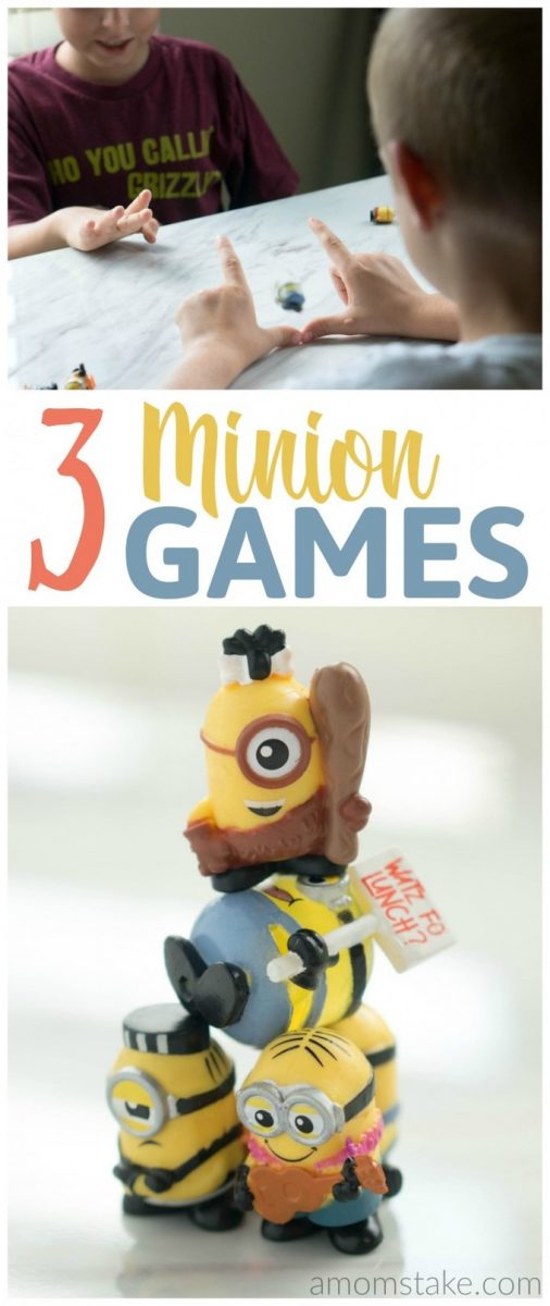 We're having so much fun playing with our little minions friends with these 3 easy minion games!