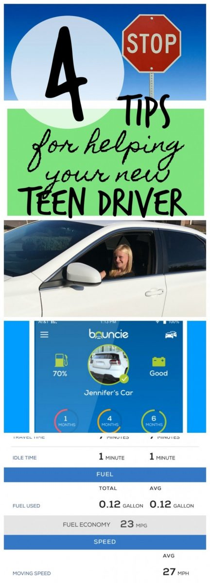 Great tips to get your new driver safely on the road including information about Bouncie #AD