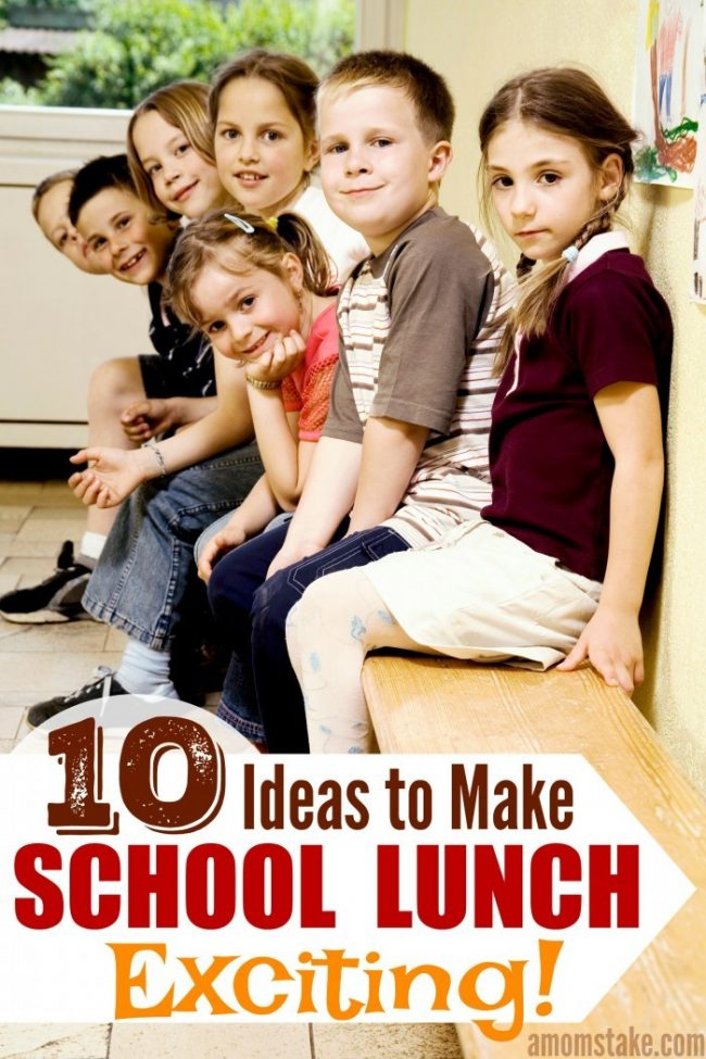 Try one of these 10 ideas to make the school lunch program exciting and fun for kids! (AD) #school #lunch #backtoschool
