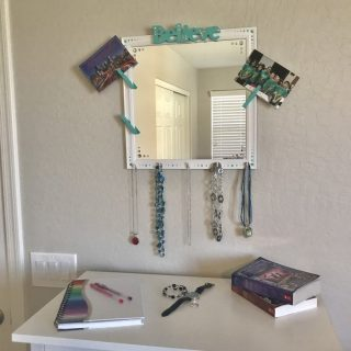 DIY Mirrored Jewelry Organizer