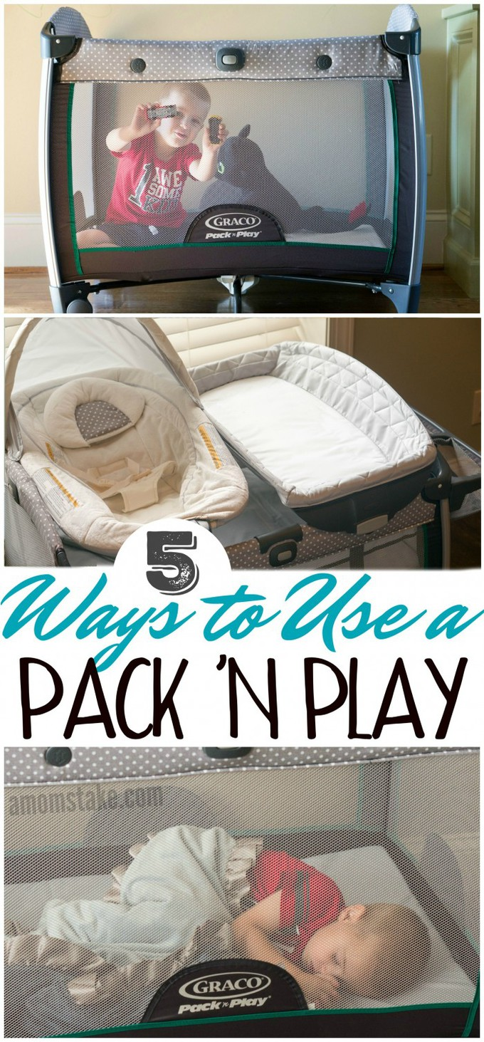 So helpful! 5 Ways to Use a Pack 'n Play #parenting #babies #toddlers #momlife #babygear #momtips #hacks #organize #clean
