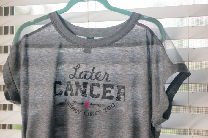 d2164cbd I picked out the Xersion Breast Cancer Awareness Dolman T-Shirt in Gray  Later Cancer. The top pairs really well with the Xersion Quarter-Zip  Pullover, ...