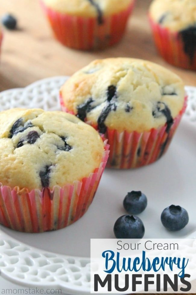Quick, easy and delicious, these sour cream blueberry muffins are a great way to start your early mornings!