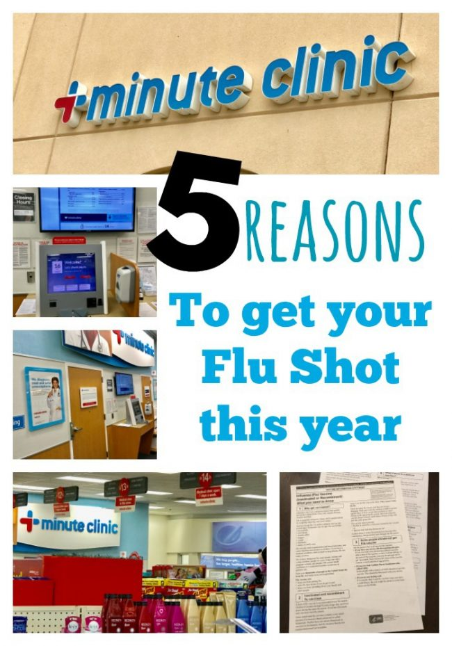 5 Reasons why you should get your flu shot this year at CVS Minute Clinic #AD