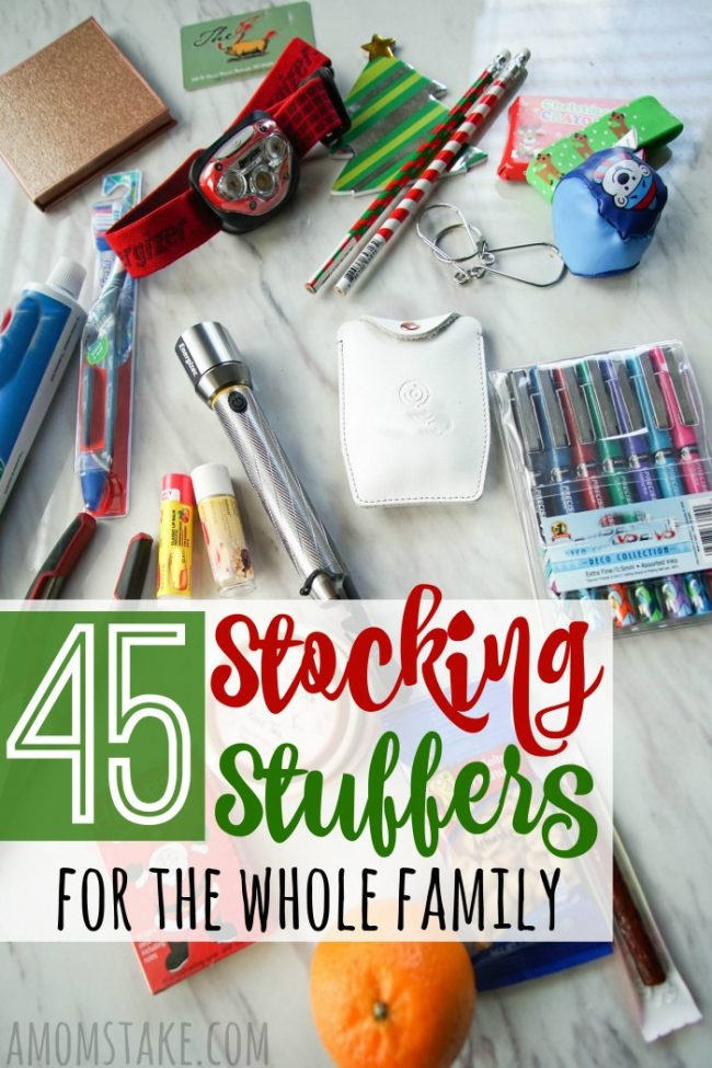 45 Stocking Stuffers for the Whole Family #stockingstuffers #christmas #christmasgifts #giftideas