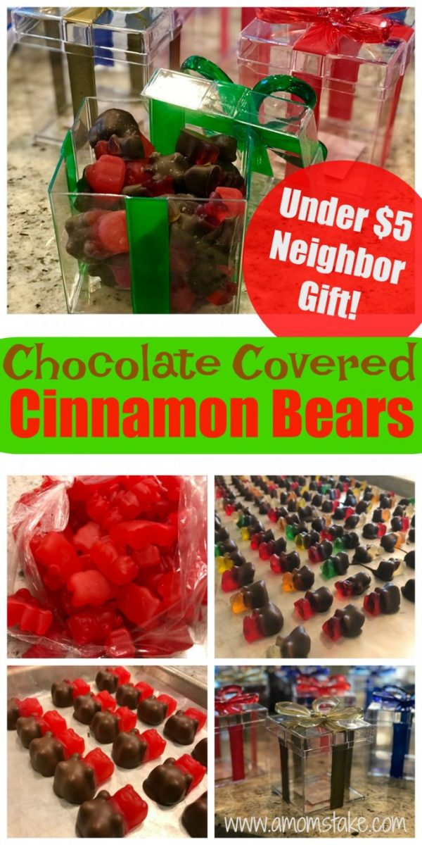 Great Neighbor Gift for the Holidays: Chocolate Covered Cinnamon Bears