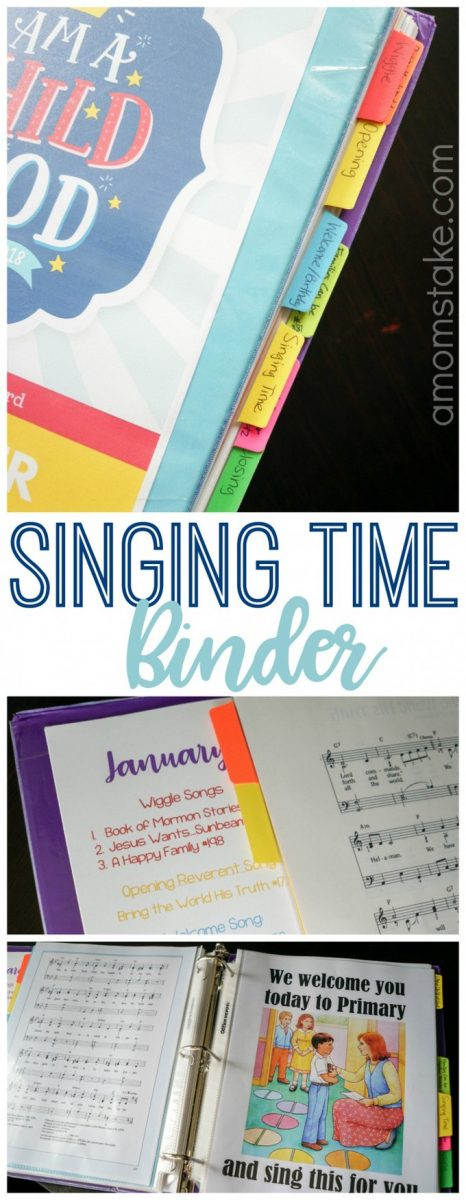 I can't gush enough about how organized this Primary Singing Time binder has made me! No more scrambling Sunday morning, this covers everything, no Children's Songbook required! A great resource for an LDS Primary Chorister / Music Leader #LDS #Mormon #ImaMormon #Primary #SingingTime #SharingTime #MusicLeader #PrimaryChorister #Organized #Primary #IAmaChildofGod
