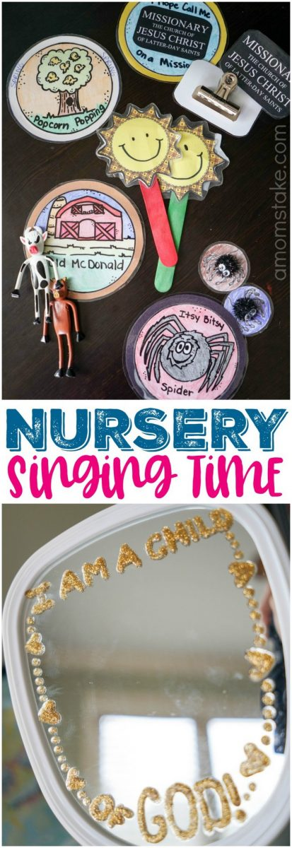 LDS Nursery Singing Time ideas with props, printables, song list, activities, actions, and ideas!! Perfect for singing with toddlers and preschoolers. #LDS #SingingTime #Nursery #Primary #Mormon #ImaMormon #Singing #KidsActivities #MusicActivities
