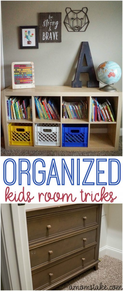 Secrets and tricks to organize your kids bedrooms! Keeping your children's room organized! Including a free printable clean your room checklist to get the kids helping with tidying the room! #cleaning #organizing #chores #kidsbedroom #kidsroom #parenting