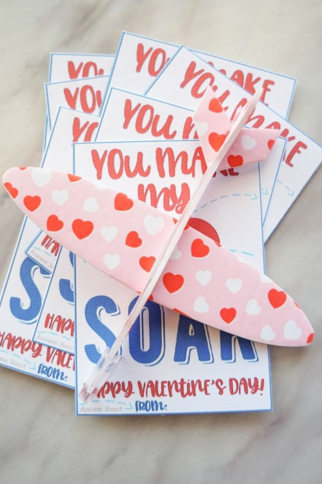 airplane valentines printable