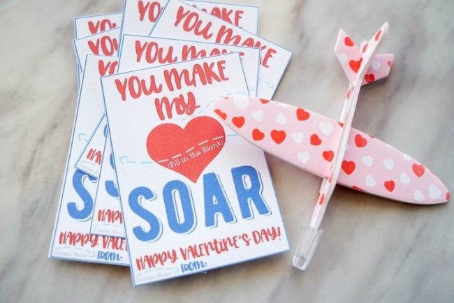 airplane valentines printable