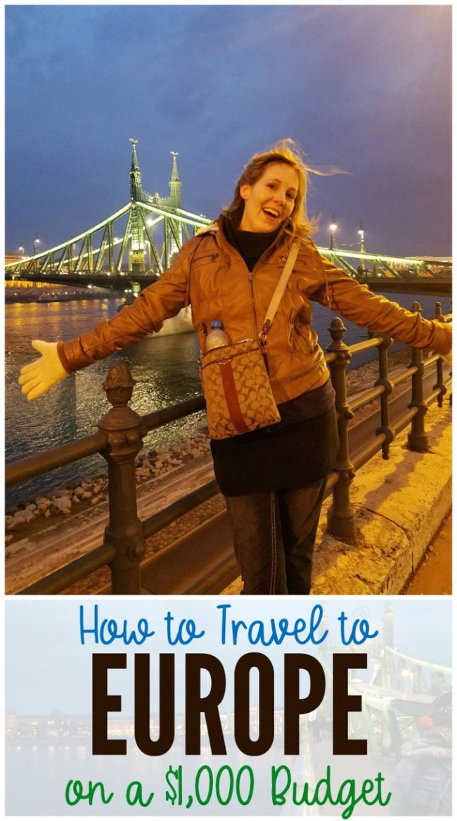 Travel to Europe $1000 Budget