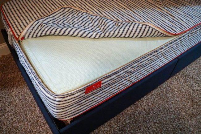 washabelle mattress unzipped