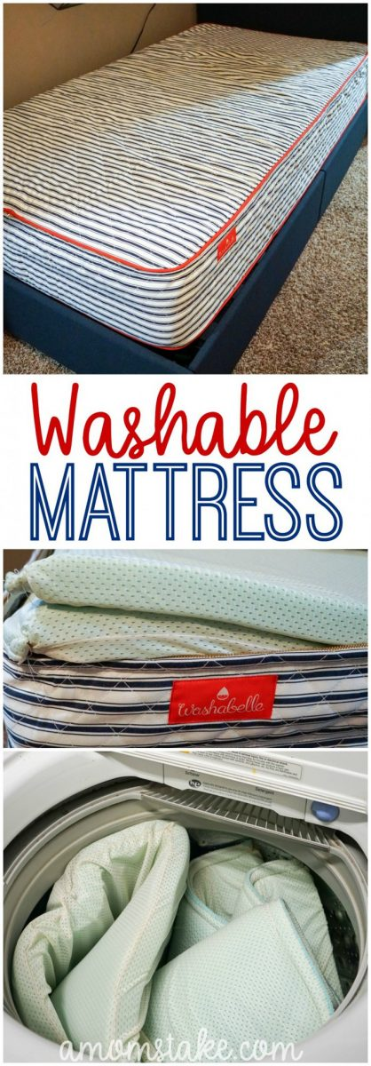A mattress you can wash? Incredibly comfortable, easy to wash at home, and competitively priced! Moms, you're going to LOVE this!! #parenting #moms #kids #bedwetting #mattress