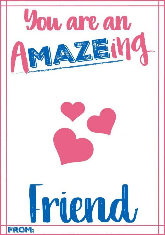 amazing friend maze valentine card a mom s take