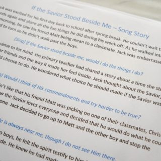 7 Singing Time Ideas: If the Savior Stood Beside Me