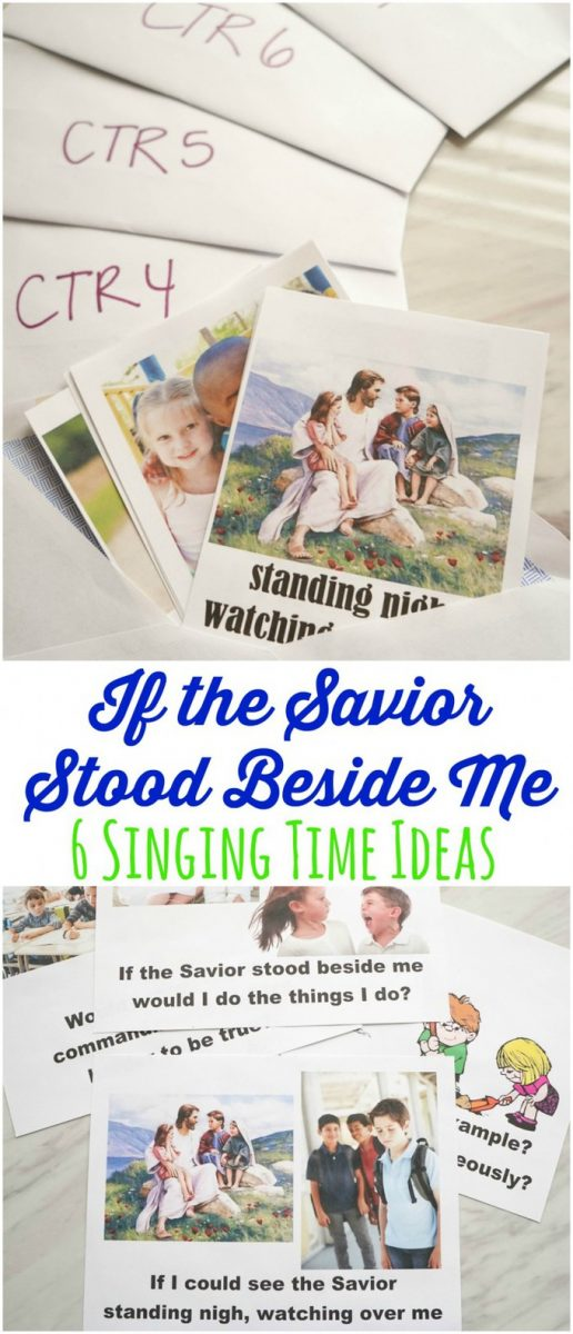 If the Savior Stood Beside Me - Singing Time Ideas! Easy ideas for primary music leaders to teach this great primary song! Includes printables to make it easy to use these ideas.