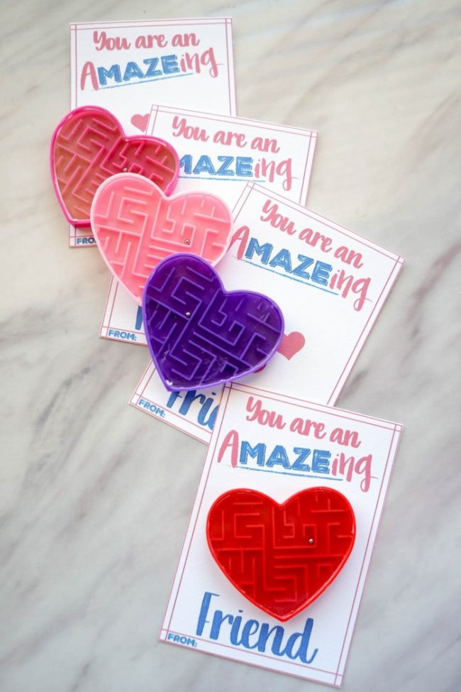 Valentine's Day Maze Cards
