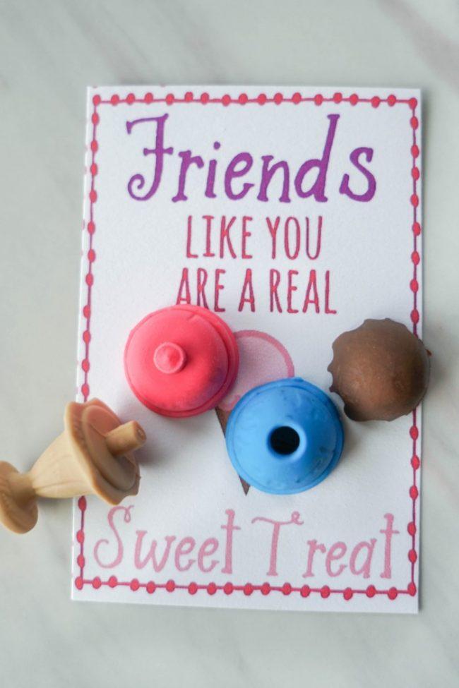 valentines erasers card