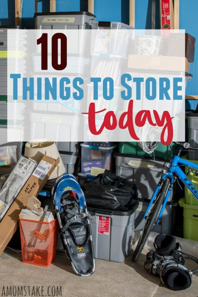 10 items you should seriously consider storing away today! Take advantage of storage space to tuck these out-of-season and items that need to be saved for a later date without cluttering up your home space.