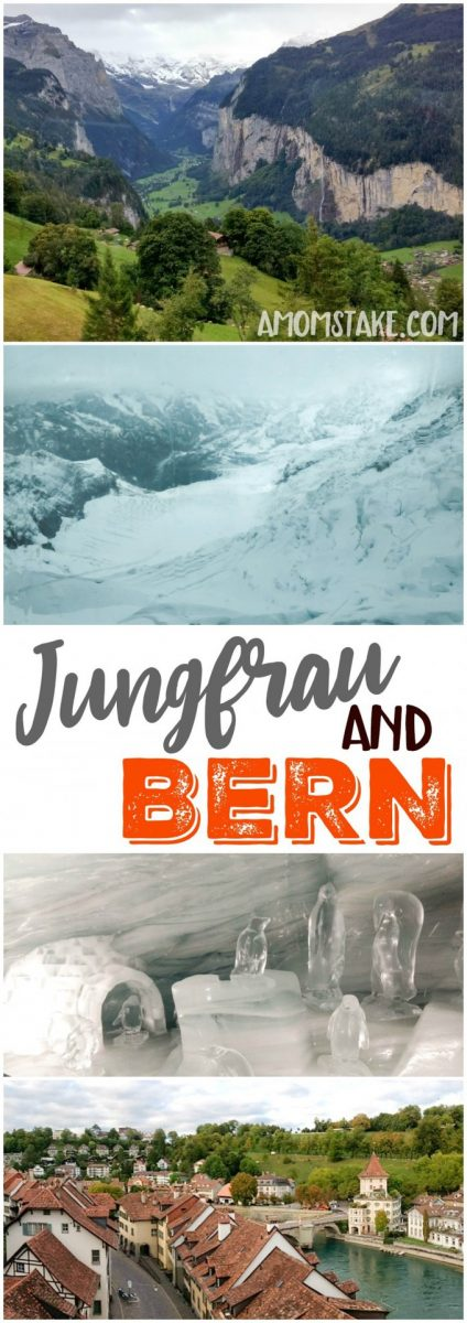 "Western Europe Road trip day 4 takes us to Jungfrau ""top of Europe"" and Bern Switzerland for incredible vistas and a beautiful city. #travel #trip #vacation #roadtrip #Europe #Switzerland #Jungfrau #BernSwitzerland #destination"